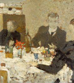 [フリー絵画素材] エドゥアール・ヴュイヤール - テーブルにて (1893) ID:201309280000