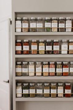 spice rack organization #kitchendiy #kitchendecor