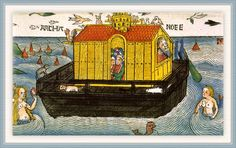 Noah's Ark, illustration from the Nuremberg Bible, 1495