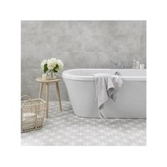 Laura Ashley Wicker Dove Grey 33cm x 33cm Floor Tile