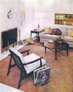1958 living room decor