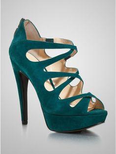 2f7948f988ac Guess Shoes Ashmere Platform Heels Pump - Medium Blue Suede Size 8 M