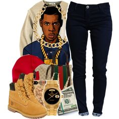A fashion look from December 2013 featuring Timberland ankle booties, Rolex watches and H&M necklaces. Browse and shop related looks.