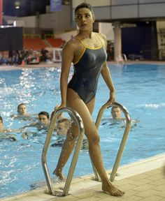 TYR Brites Reversible Diamondfit Swimsuit inspired by Alex Parrish in Cover | TheTake