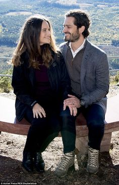Prince Carl Philip and Princess Sofia looked loved-up as they opened a nature reserve in Sweden on Friday