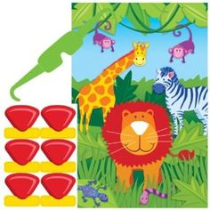 Jungle Animals Party Game #YoYoBirthday