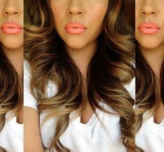 Lip color and hair