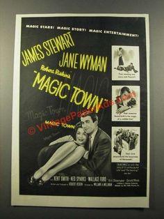 1947 Magic Town Movie Ad - James Stewart, Jane Wyman