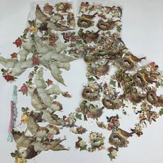 Victorian German Die Cut Scrap Group of 27 Hands & Roses Flowers diecut Nest  | eBay