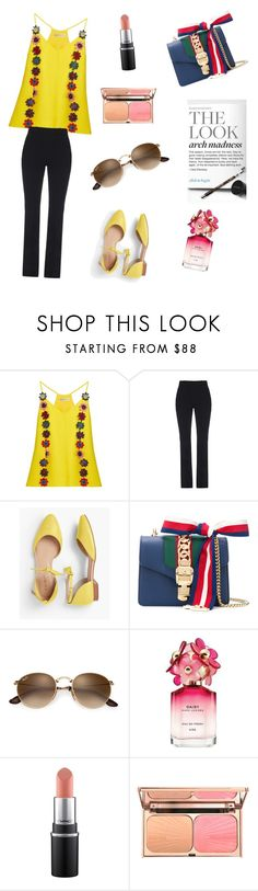 """The Look"" by insha-khan ❤ liked on Polyvore featuring Mary Katrantzou, Gucci, Talbots and Marc Jacobs"