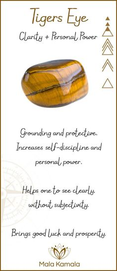 What is the meaning and chakra healing properties of tigers eye? - Find more crystal meanings on the site.What is the meaning and chakra healing properties of tigers eye? - Find more crystal meanings on the site. Gems And Minerals, Crystals Minerals, Crystals And Gemstones, Stones And Crystals, Gem Stones, Reiki Symbols, Crystal Meanings, Gemstones Meanings, Crystal Magic