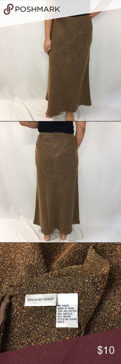 """Newport News Maxi Skirt Newport News Maxi Skirt. Mixed shades of copper and chestnut. 14.5"""" waist 37"""" long Newport News Skirts Maxi"""