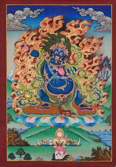 Tibet Tibetan Thangka Tangkas Buddha Buddhist Art Thanka Mineral Painting #048