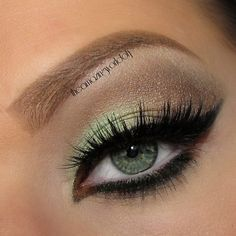 Soft Brown and mint green look
