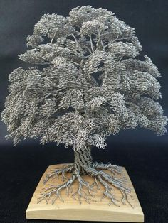 Clive Madison makes amazing tree sculptures completely from wire!