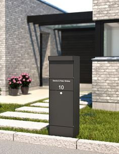 Qualarc ALX-GRP Grandform Parcel Box The extra-large size of the ALX grandform will stand in front o Parcel Drop Box, Mailbox Post, Mailbox Ideas, Modern Mailbox, Grades, Post Box, Mediterranean Homes, Built In Storage, Wood Storage