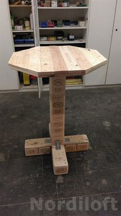 Tische - Palettenmöbel-Stehtisch aus Palettenholz - ein Designerstück von Nordiloft bei DaWanda