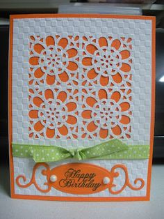 Love that Martha Stewart punch, colors, embossing...