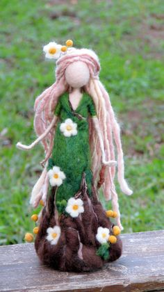 Waldorf inspired doll Fantasy doll Fairy Needle felted fairy