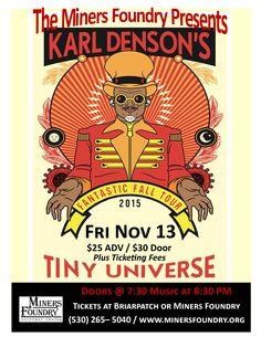 Karl Denson's Tiny Universe Fantastic Fall Tour November 13 @ 7:30 pm, Miners Foundry, Nevada City