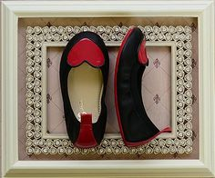Yosi Samra Leather Flats with Heart (11131Y 2Y)