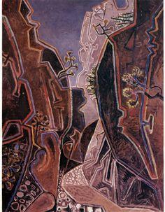 Kalikrati Gorge Crete 1965, by John Craxton