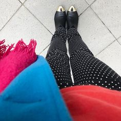 Polkadot Friday! If you are a big fan of color like me you should check out my new account @thecolorwallproject & become part of this awesome new community #oneoutfitaday