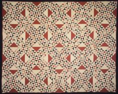 Lovely scrappy Ocean Waves Quilt or Bedspread, 1865. Printed cotton, cotton batting, 87 1/2 x 70 1/2in. (222.3 x 179.1cm). Brooklyn Museum, Gift of Margaret S. Bedell, 25.896.4 (Photo: Brooklyn Museum, 25.896.4.jpg)