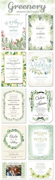 Green wedding color ideas - Greenery wedding invitations / www. Trendy 2019 - Wedding Invitations Trends 2019 - Nail polish patterns that you can do with the nails arts friends look at the hands of . Cheap Wedding Invitations, Wedding Invitation Design, Wedding Stationary, Wedding Paper Divas, Wedding Cards, Wedding Stuff, Wedding Trends, Wedding Designs, Trendy Wedding