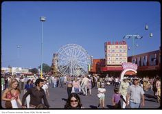 The Canadian National Exhibition (CNE) is quickly approaching with 18 days of impossible games, questionable rides and heart clogging food. Toronto Ontario Canada, Canadian History, North York, Tornados, Vintage Photographs, 1970s, Fair Grounds, City, Amusement Parks