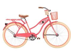 Vintage Fashion and Lifestyle Huffy Bicycles 26656 Ladies' Deluxe Cruiser Bicycle, Coral Radiance, 26-In.