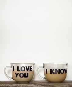 'i love you' & 'i know' decal set