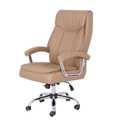 High Back Office Chair Desk Cushion Support Spring Executive Leather  Ergonomic
