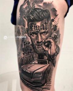 they had a tattoo on the back of hand. Car Tattoos, Dream Tattoos, Body Art Tattoos, Tattoo Drawings, Tattoos For Guys, Tattoo Life, Conor Mcgregor Tattoo, Chicano Tattoos Sleeve, Gangster Tattoos