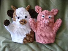Crocheted hand puppets - *Inspiration*