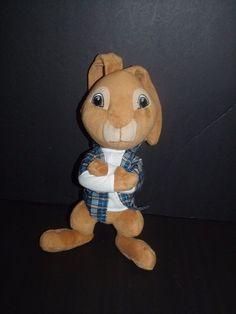 "Funrise Toy Corp HOP Bunny Rabbit Plaid Shirt Universal Studios Plush 13"" Easter…"