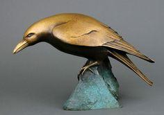 Georgia Gerber, Bowed Raven Sculpture