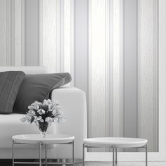 Vymura Synergy Glitter Stripe Wallpaper in Dove Grey and Silver - http://godecorating.co.uk/vymura-synergy-glitter-stripe-wallpaper-dove-grey-silver/