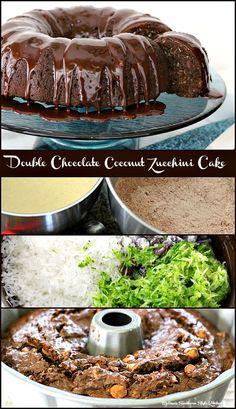 Double Chocolate Coconut Zucchini Cake