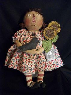 Primitive folk art Raggedy Annie Pattern Hand by Dumplinragamuffin, $10.00