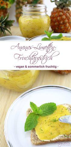 Sommerlicher Ananas-Limetten-Fruchtaufstrich - Rezept für vegane fruchtige Ananasmarmelade mit Limetten