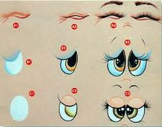 desenhos de olhos para bordar em bonecas de pano - Pesquisa Google