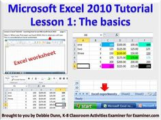 Lesson 1 Excel Tutorial – Learning how to use Microsoft Excel 2010