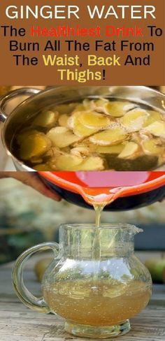 Ginger Water: The Healthiest Drink To Burn All The Fat From The Waist, Back And Thighs! – Skin nd Beauty Ginger Water: The Healthiest Drink To Burn All The Fat From The Waist, Back And Thighs! – Skin nd Beauty Herbal Remedies, Health Remedies, Natural Remedies, Bebidas Detox, Do It Yourself Food, Weight Loss Drinks, Drinks To Lose Weight, Detox Water To Lose Weight, Health Products