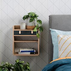Exclusive removable Origami wallpaper design by Kids By Krauskopf, is a cool geometric for a bedroom or living area. Choose your own colours.