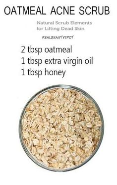 Homemade: Oatmeal scrub and mask  {Oatmeal will cleanse the skin of oil and exfoliate the pores to clear clogged pores, help heal acne and brighten the skin} by rosemary