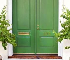 Understand what makes a good feng shui front door and use these simple, easy feng shui tips to strengthen the front door of your own house.: Color In Harmony with Direction
