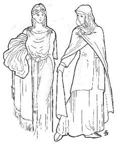 Summer and winter ideas for garb, 9th century Irish.  good pics!
