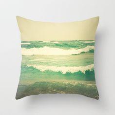 Sea Glass Throw Pillow by Olivia Joy StClaire - $20.00, ocean, decor, coastal, nautical, photography, cottage decor