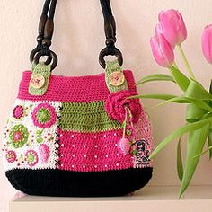 Gently love bag (VendulkaM) Tags: crochet magicwithhookandneedles vendulamaderskadesign crchetheart